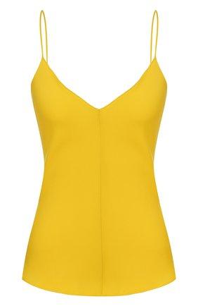 Женская шелковый топ THE ROW желтого цвета, арт. 4914W1623 | Фото 1