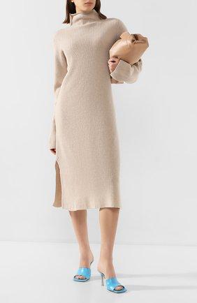 Женское платье из смеси шерсти и кашемира THE ROW бежевого цвета, арт. 3687Y184 | Фото 2