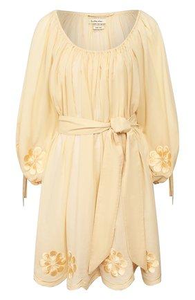 Женское хлопковое платье INNIKA CHOO бежевого цвета, арт. M2006C0TS01PANA | Фото 1