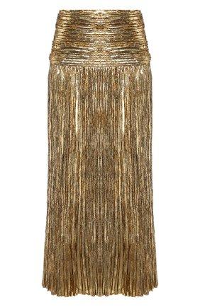 Женская юбка-миди SAINT LAURENT золотого цвета, арт. 615548/Y010R | Фото 1