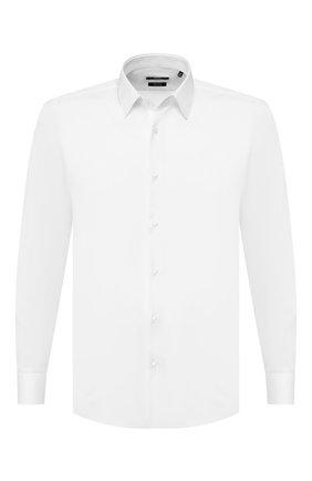 Мужская хлопковая сорочка BOSS белого цвета, арт. 50427520 | Фото 1