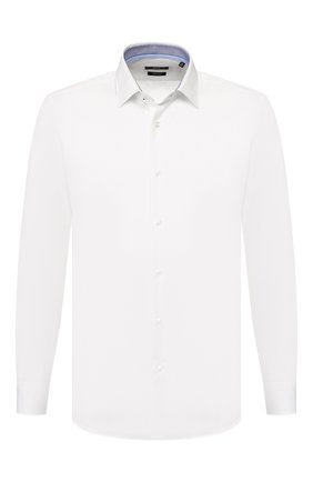 Мужская хлопковая сорочка BOSS белого цвета, арт. 50427537 | Фото 1