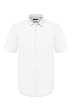 Мужская хлопковая сорочка BOSS белого цвета, арт. 50427530 | Фото 1