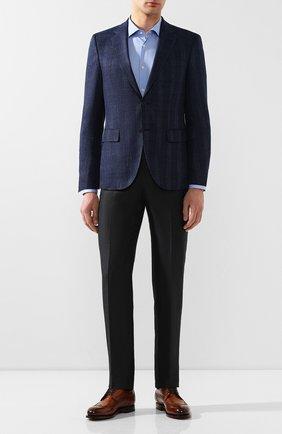 Мужская хлопковая сорочка BOSS голубого цвета, арт. 50429038 | Фото 2