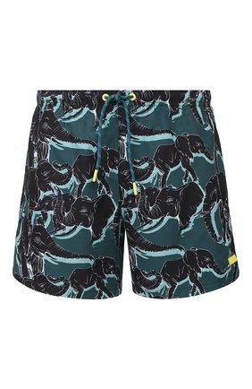 Детского плавки-шорты BOSS темно-зеленого цвета, арт. 50425213   Фото 1