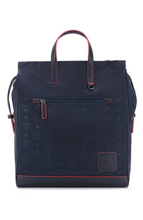 Мужская текстильная сумка-тоут MCM темно-синего цвета, арт. MMT ASKC08 | Фото 1