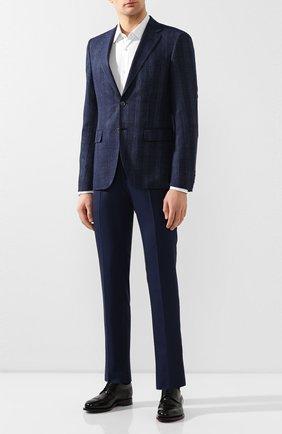 Мужской шерстяные брюки BERWICH темно-синего цвета, арт. SC/1 ALC/VB101 | Фото 2