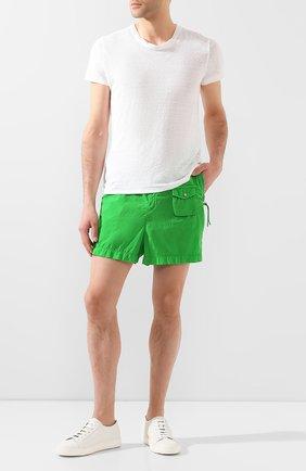 Мужские шорты MONCLER зеленого цвета, арт. F1-092-2B702-60-C0520 | Фото 2