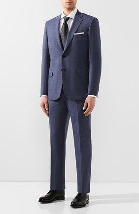Мужской шерстяной костюм BRIONI синего цвета, арт. RA0J1C/P9A1X/BRUNIC0   Фото 1