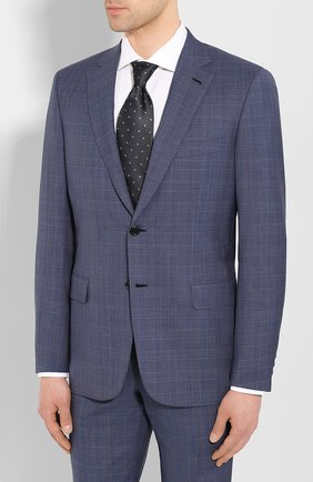 Мужской шерстяной костюм BRIONI синего цвета, арт. RA0J1C/P9A1X/BRUNIC0 | Фото 2