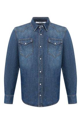 Мужская джинсовая рубашка 2 MEN JEANS синего цвета, арт. KUSTER/Y2FMC | Фото 1