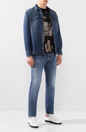Мужская джинсовая рубашка 2 MEN JEANS синего цвета, арт. KUSTER/Y2FMC | Фото 2