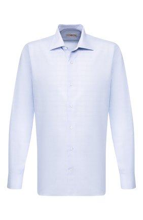 Мужская хлопковая сорочка LUCIANO BARBERA голубого цвета, арт. 105469/72275 | Фото 1