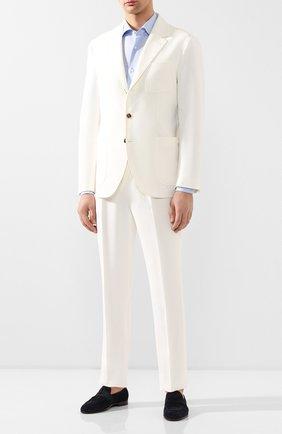 Мужская хлопковая сорочка LUCIANO BARBERA голубого цвета, арт. 105469/72275 | Фото 2