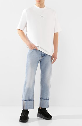 Мужская хлопковая футболка ACNE STUDIOS белого цвета, арт. BL0156/M | Фото 2