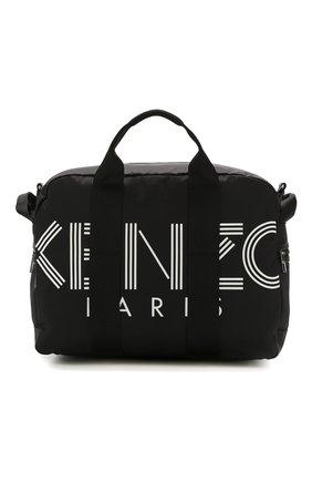 Мужская текстильная дорожная сумка KENZO черного цвета, арт. F865SF210F24 | Фото 1