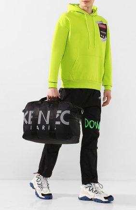 Мужская текстильная дорожная сумка KENZO черного цвета, арт. F865SF210F24 | Фото 2