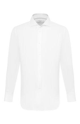 Мужская рубашка BRUNELLO CUCINELLI белого цвета, арт. MQ6590028 | Фото 1