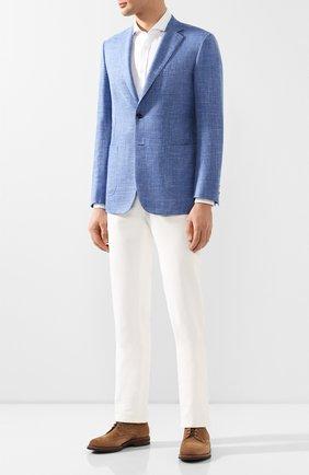 Мужская рубашка BRUNELLO CUCINELLI белого цвета, арт. MQ6590028 | Фото 2