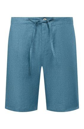 Мужские льняные шорты LORO PIANA бирюзового цвета, арт. FAI5747 | Фото 1