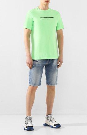 Мужские джинсовые шорты DIESEL голубого цвета, арт. 00SD3U/069LP   Фото 2
