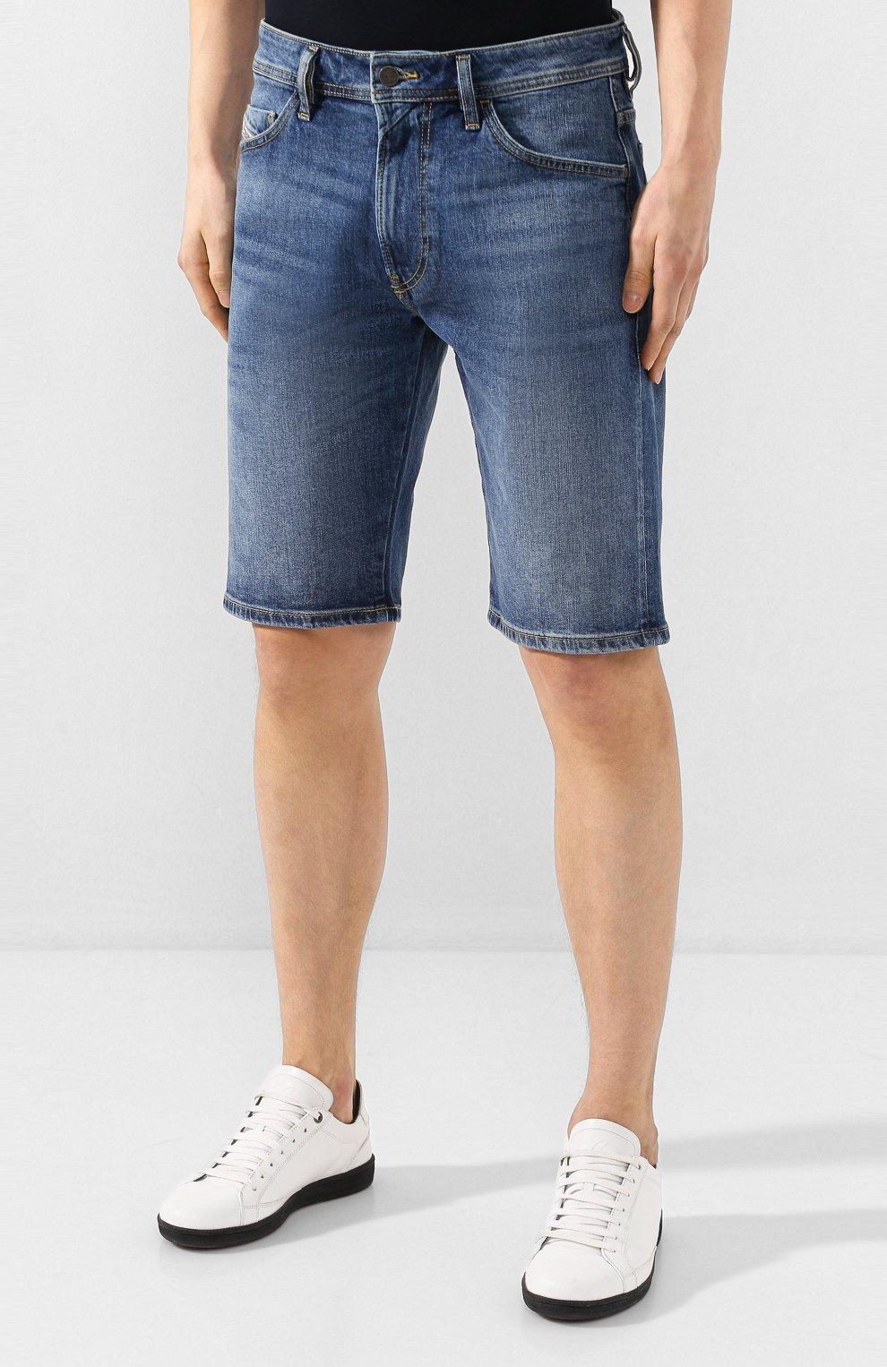 Мужские джинсовые шорты DIESEL синего цвета, арт. 00SD3U/0JAXH | Фото 3