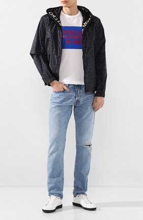 Мужская хлопковая футболка MONCLER белого цвета, арт. F1-091-8C746-10-8390Y | Фото 2