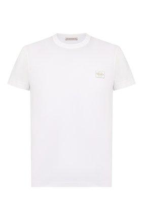 Мужская хлопковая футболка MONCLER белого цвета, арт. F1-091-8C733-00-8390Y | Фото 1
