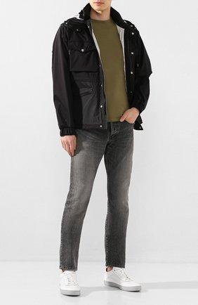 Мужская хлопковая футболка MONCLER хаки цвета, арт. F1-091-8C716-00-87296 | Фото 2