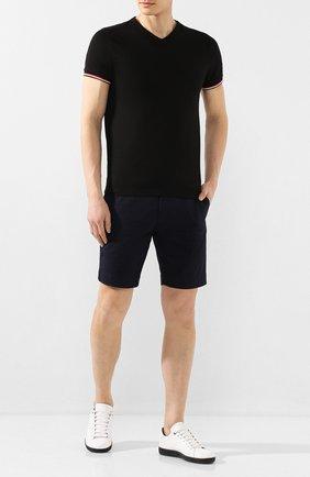 Мужская хлопковая футболка MONCLER черного цвета, арт. F1-091-8C715-00-87296 | Фото 2