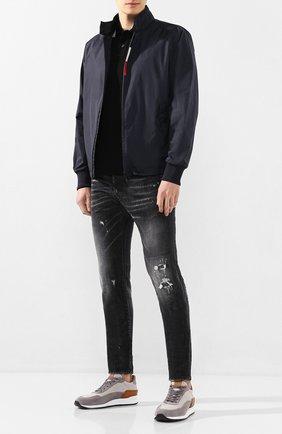 Мужское хлопковое поло MONCLER черного цвета, арт. F1-091-8A706-00-84556 | Фото 2
