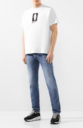 Мужская хлопковая футболка BURBERRY белого цвета, арт. 4563793 | Фото 2