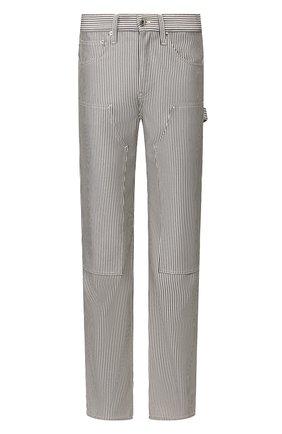 Мужской брюки HELMUT LANG черно-белого цвета, арт. K02DM203 | Фото 1