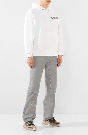 Мужской брюки HELMUT LANG черно-белого цвета, арт. K02DM203 | Фото 2