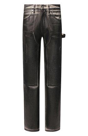 Мужской хлопковые брюки HELMUT LANG черно-белого цвета, арт. K02DM201 | Фото 1