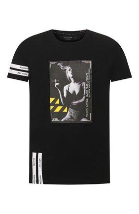 Мужская хлопковая футболка RELIGION черного цвета, арт. 49BCVG05 | Фото 1