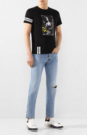 Мужская хлопковая футболка RELIGION черного цвета, арт. 49BCVG05 | Фото 2