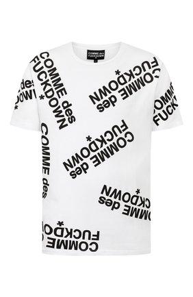 Мужская хлопковая футболка COMME DES FUCKDOWN белого цвета, арт. CDFU714P | Фото 1
