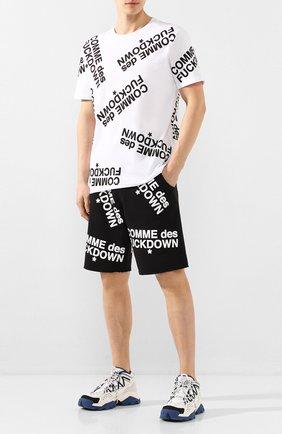 Мужская хлопковая футболка COMME DES FUCKDOWN белого цвета, арт. CDFU714P | Фото 2