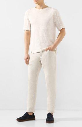 Мужской брюки из смеси хлопка и вискозы TRANSIT светло-бежевого цвета, арт. CFUTRKI180 | Фото 2