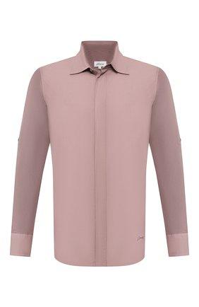 Мужская хлопковая рубашка BRIONI сиреневого цвета, арт. UJDC0L/P9611 | Фото 1