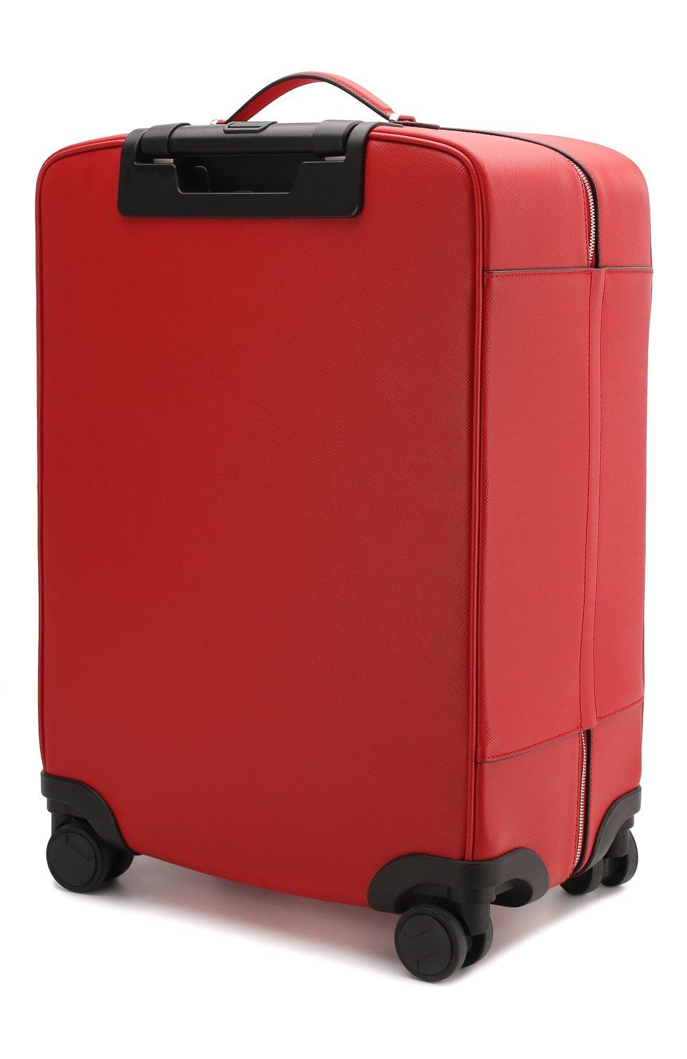 Мужской кожаный чемодан evoluzione SERAPIAN красного цвета, арт. SEV0LMTR7064M55A | Фото 2