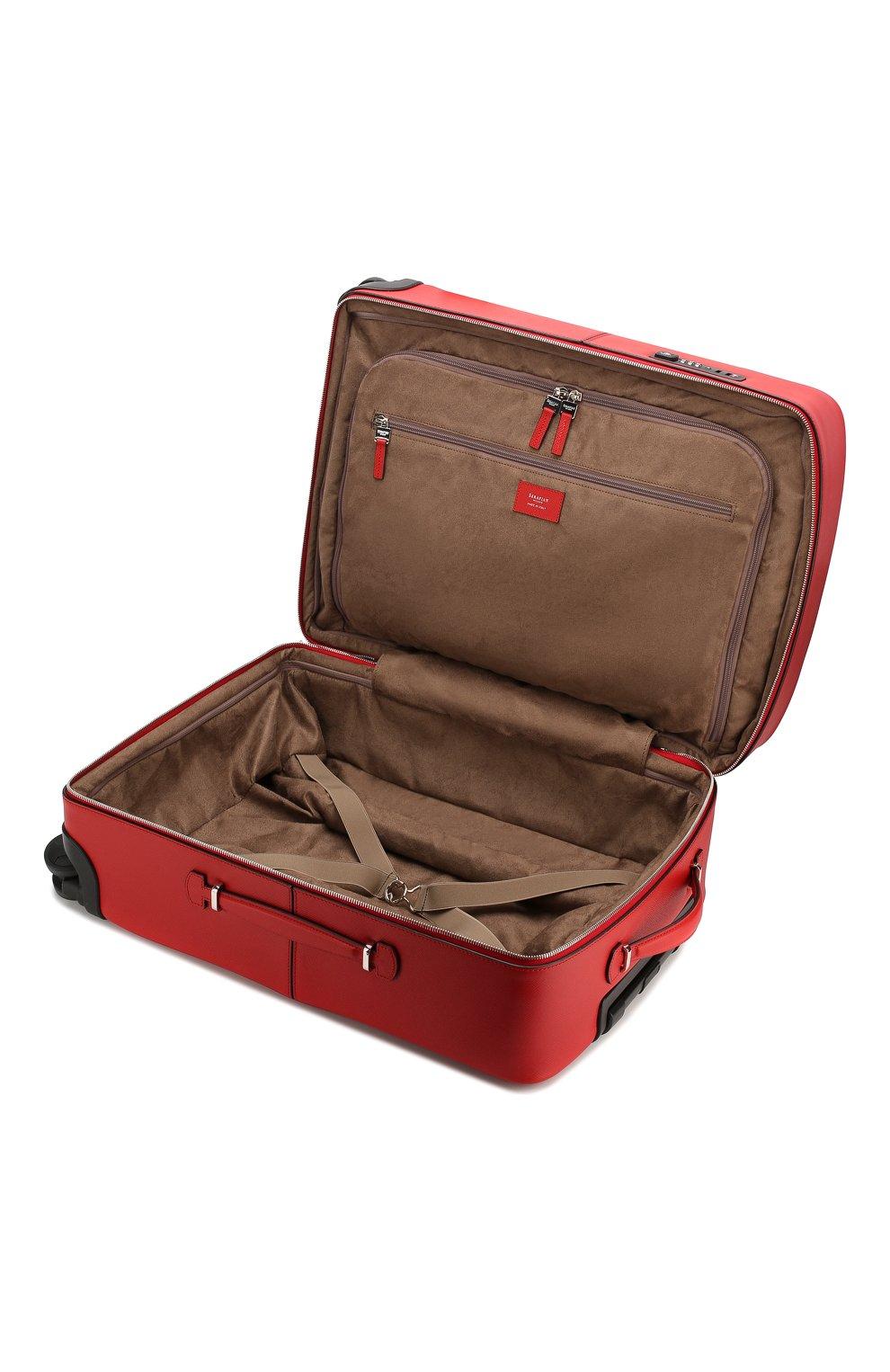 Мужской кожаный чемодан evoluzione SERAPIAN красного цвета, арт. SEV0LMTR7064M55A | Фото 3