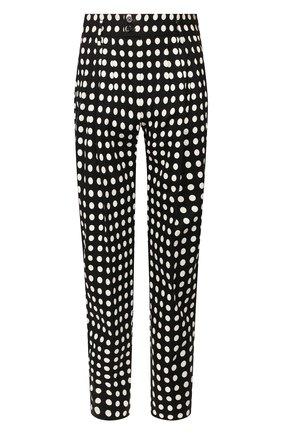 Мужские хлопковые брюки DOLCE & GABBANA черно-белого цвета, арт. GW8CAT/FSFCE   Фото 1