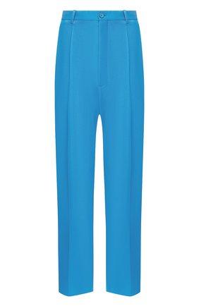 Мужской шерстяные брюки BALENCIAGA голубого цвета, арт. 622229/TIT17 | Фото 1