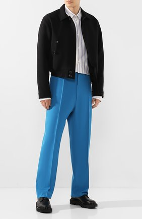 Мужской шерстяные брюки BALENCIAGA голубого цвета, арт. 622229/TIT17 | Фото 2