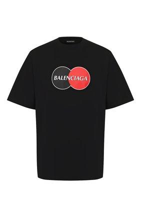 Мужская хлопковая футболка BALENCIAGA черного цвета, арт. 620969/TIV79 | Фото 1