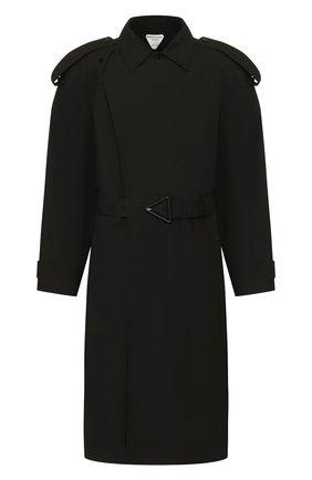 Мужской хлопковый тренч BOTTEGA VENETA черного цвета, арт. 613755/VKPB0 | Фото 1