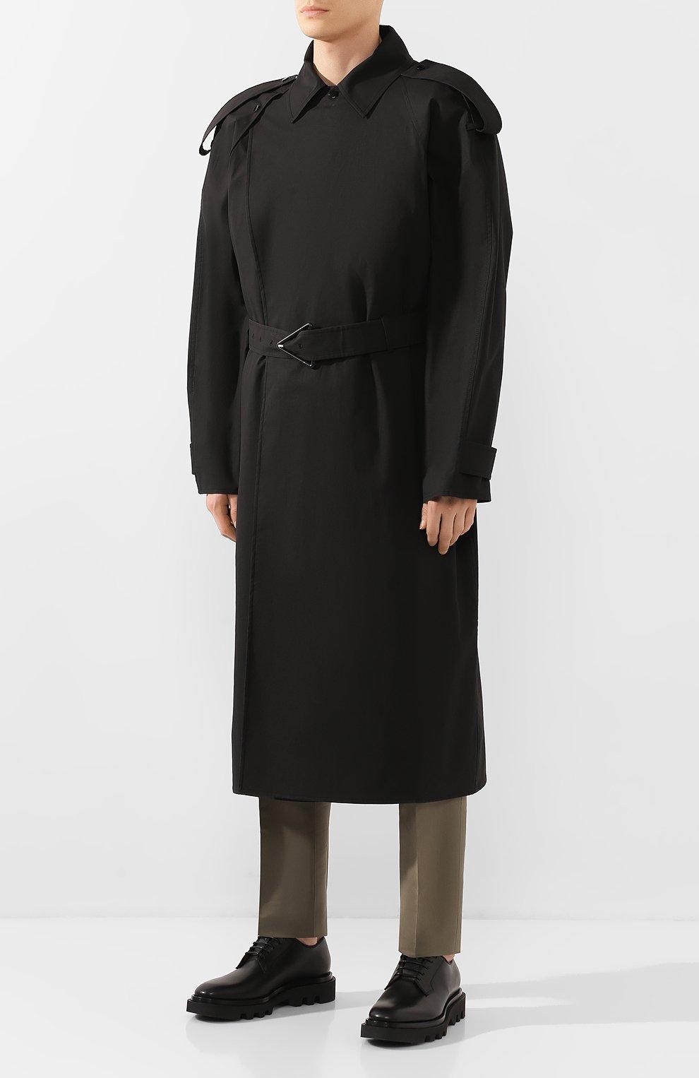 Мужской хлопковый тренч BOTTEGA VENETA черного цвета, арт. 613755/VKPB0 | Фото 3