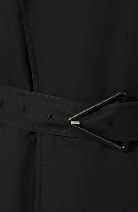 Мужской хлопковый тренч BOTTEGA VENETA черного цвета, арт. 613755/VKPB0 | Фото 5